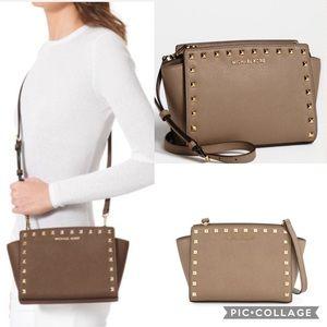 Michael Kors Selma studded messenger bag